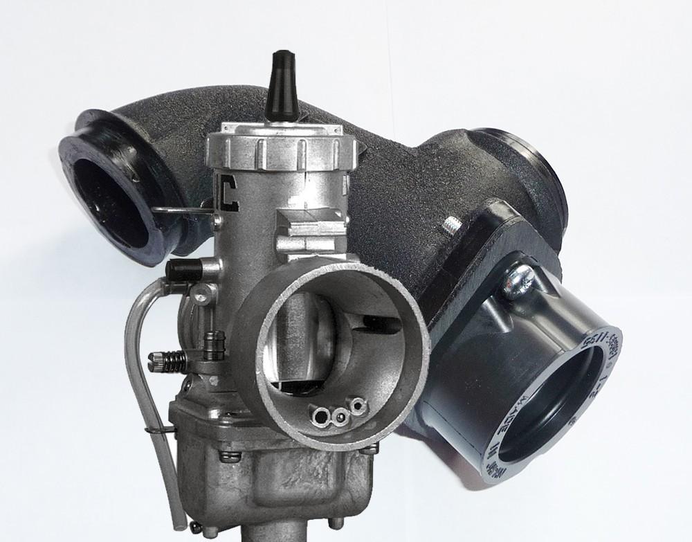 Single 40mm Carb  Boot & Black BIP Manifold w/ VM30 Mikuni